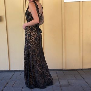 Black laced gown